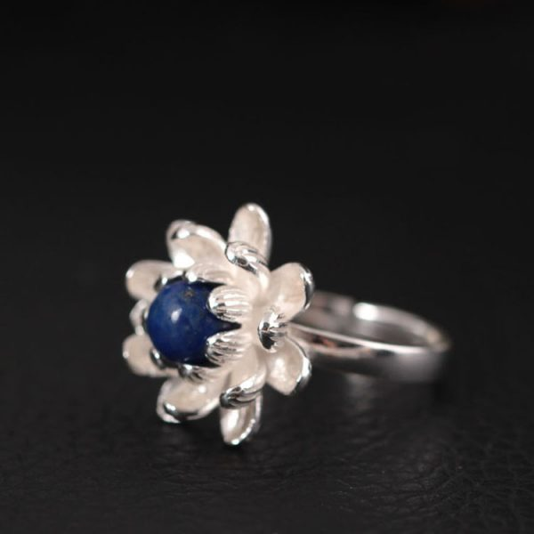 Sterling Silver Lotus Flower Ring - 3 Colors