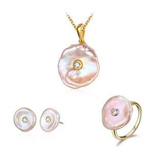 Pearl Flower Jewelry Set