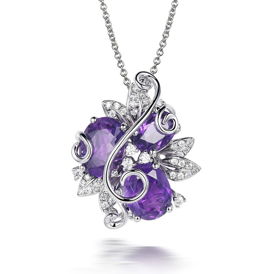 grande zhannel swarovski heart love new purple pendant crystal products necklace large lilac