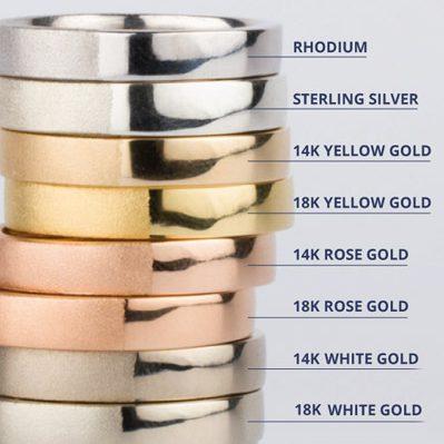 925 Petals Silver Gold Rhodium