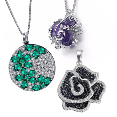 Flower Necklaces Pendants 925 Petals
