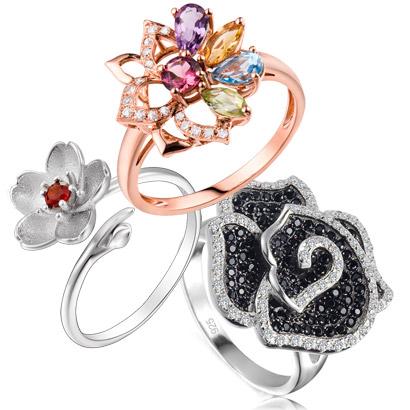 Flower Rings 925 Petals